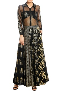 printed-embroidered-lehenga-with-bustier-shirt