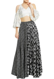 printed-lehenga-with-cold-shoulder-blouse