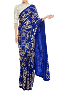 floral-stamp-print-sari-with-blouse