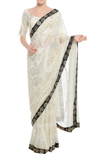 dry-flower-stamp-print-sari-with-unstitched-blouse