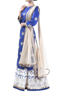 embroidered-block-printed-lehenga-set-with-net-dupatta