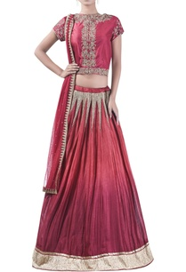 embroidered-blouse-with-flared-lehenga-set