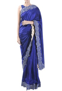 embroidered-border-sari-with-unstitched-blouse