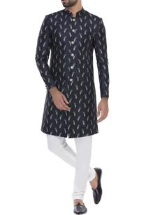 feather-print-sherwani-with-churidar