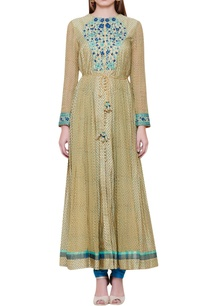 thread-embroidered-anarkali-kurta-set-with-waistbelt