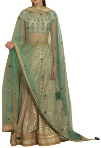 brocade-lehenga-with-embroidered-blouse-and-dupatta