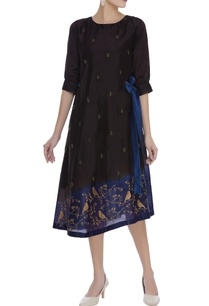 zari-work-nature-inspired-tunic-dress