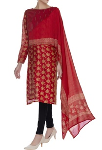 printed-kurta-with-attached-dupatta