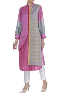 zari-embroidered-kurta-with-attached-jacket