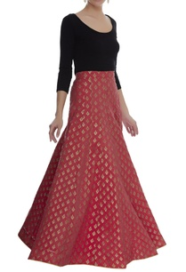 silk-brocade-maxi-skirt