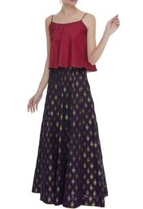 silk-brocade-skirt