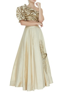 one-shoulder-blouse-with-hand-embroidered-skirt
