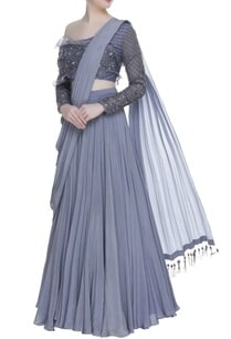 pleated-lehenga-with-attached-dupatta-and-embroidered-blouse