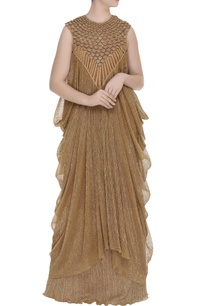 draped-cowl-layered-gown