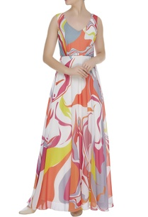 printed-flared-maxi-dress