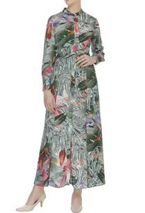 printed-flared-shirt-dress