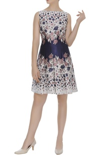 printed-flared-short-dress