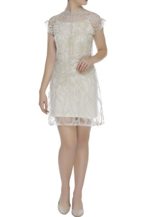 lace-work-short-dress