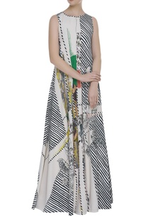 printed-striped-flared-maxi-dress