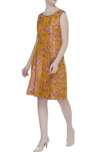 floral-print-short-dress