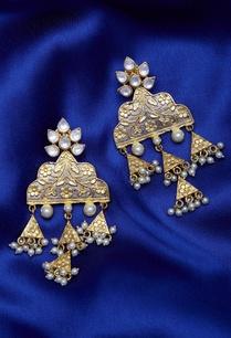 kundan-triangular-earrings
