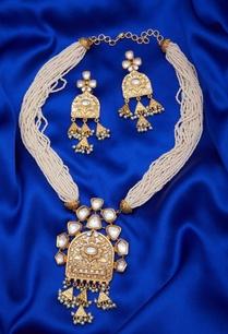 pearl-kundan-tribal-style-pendant-set