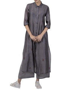 pintucked-high-slit-kurta