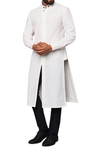 madarin-collar-overlap-placket-kurta