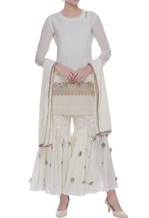 embroidered-straight-kurta-with-gharara-pants-dupatta