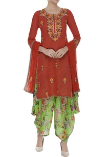 embroidered-kurta-with-dhoti-pants-dupatta