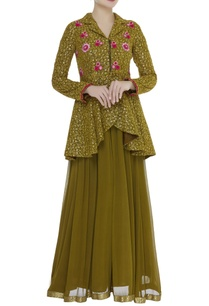 resham-embroidered-peplum-tunic