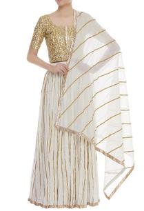 gota-embroidered-blouse-with-lehenga-dupatta