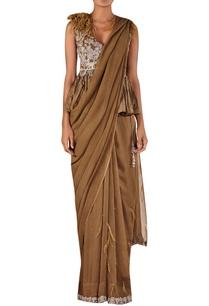 overlap-embellished-peplum-blouse-with-sari