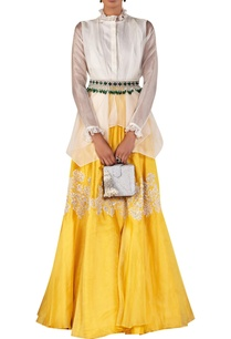 draped-shirt-with-embellished-skirt-and-jewelled-belt