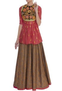 embroidered-peplum-top-with-lehenga