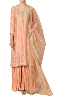 embroidered-straight-kurta-with-lehenga-dupatta