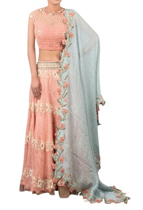 flower-embroidered-lehenga-set-with-contrast-dupatta