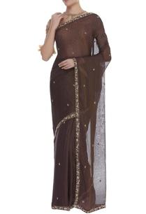 pitawork-sari-with-feather-work-blouse