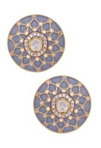 kundan-stone-stud-earrings