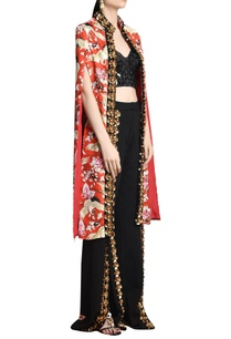 mughal-print-skein-work-jacket-with-front-clasp