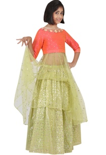 embroidered-yoke-kurta-with-lehenga