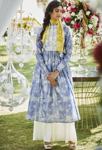 floral-print-anarkali-kurta-with-pants
