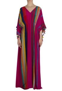 striped-kaftan-maxi-dress