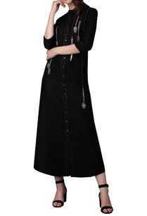 hanging-cutlery-embroidery-long-shirt-dress