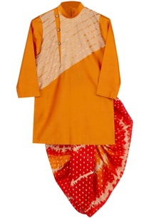 gota-embroidered-kurta-with-dhoti-pants