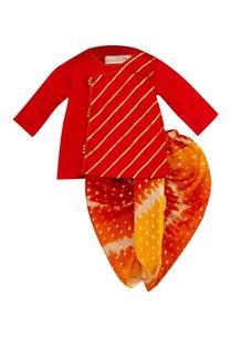 gota-embroidered-angrakha-with-dhoti-pants