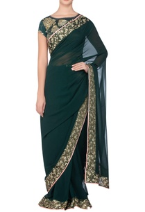 border-embroidered-sari-with-embellished-blouse