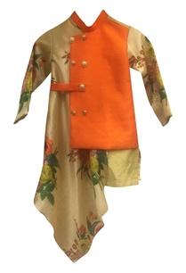 floral-print-asymmetric-draped-nehru-jacket