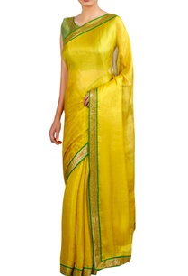 sequin-border-embroidered-sari-with-sleeveless-blouse