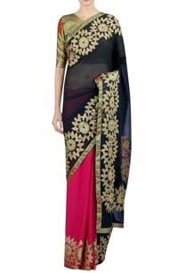 applique-embrodiered-sari-with-blouse